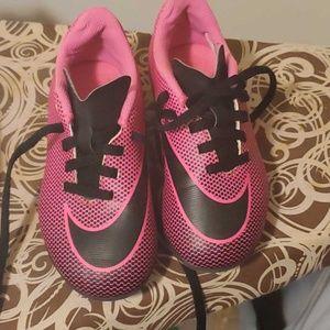 Little girl soccer cleats